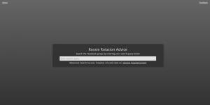 Rossie Rotation Advice
